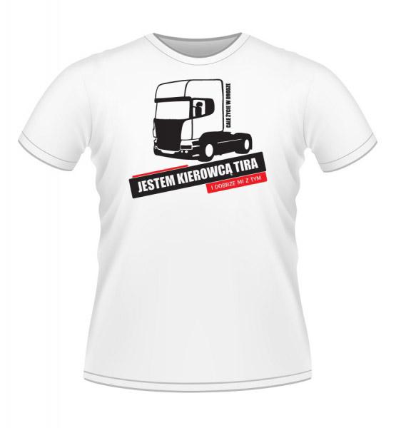 Koszulki z nadrukiem - koszulka z tirem