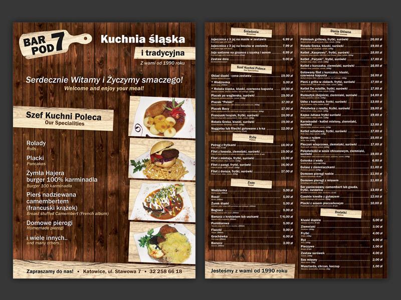 karty menu