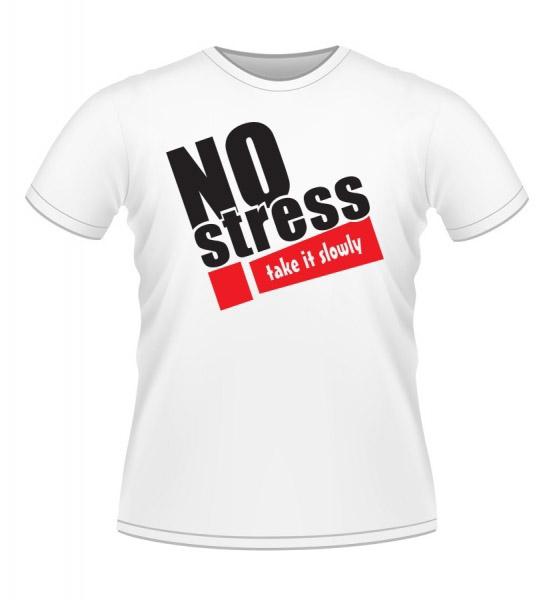Koszulki z nadrukiem - koszulka z nadrukiem no stress